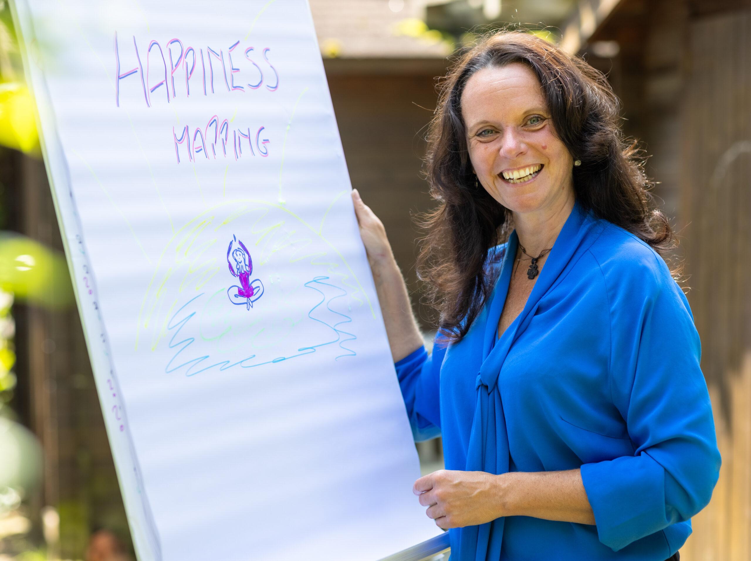 Bild beim Happiness Mapping an einem Plipchart